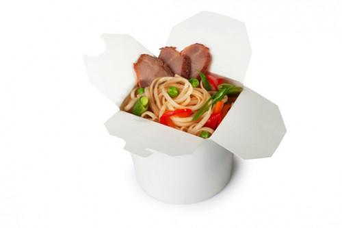 Лапша с свининой и овощами